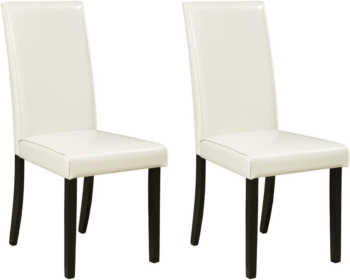 Signature Design by Ashley Stuman Dining Room Chair, White (4 Pack)