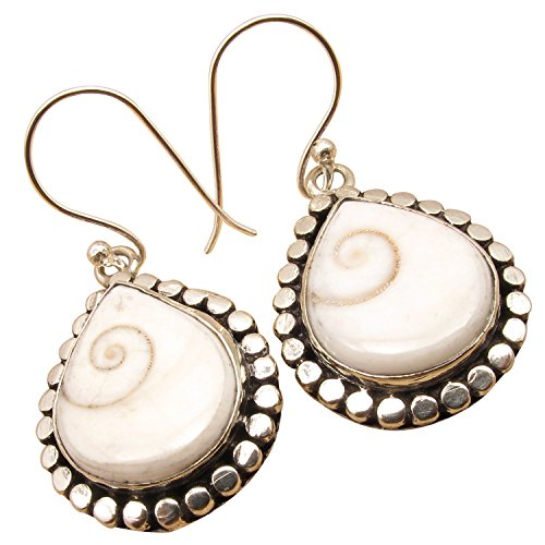 SHIVA EYE SHELL Ethnic Fashion Jewelry Drop Earrings ! 925 Sterling Silver Plated Engagement Jewelry