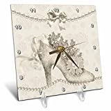 3dRose dc_164747_1 Vintage Wedding Shoes for The