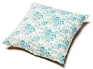B00W97OYGIO56 Touchdog Floral-Galore Convertible and Reversible Squared 2-in-1 Collapsible Dog House Bed, Teal Blue, White, One Size
