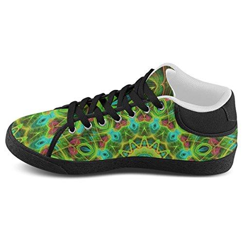 Art Artsadd Canvas Chukka Model003 Shoes For Peacock Women Kaleidoscope Abstract Green Feathers qrIBwr0