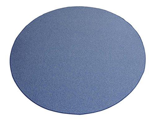 Havatex Schlingen Teppich Teppich Teppich Torronto rund - schadstoffgeprüft und pflegeleicht   robust strapazierfähig   für Flur Wohnzimmer Schlafzimmer, Farbe Blau, Größe 160 cm rund B00JDXBFNQ Teppiche 543a2e
