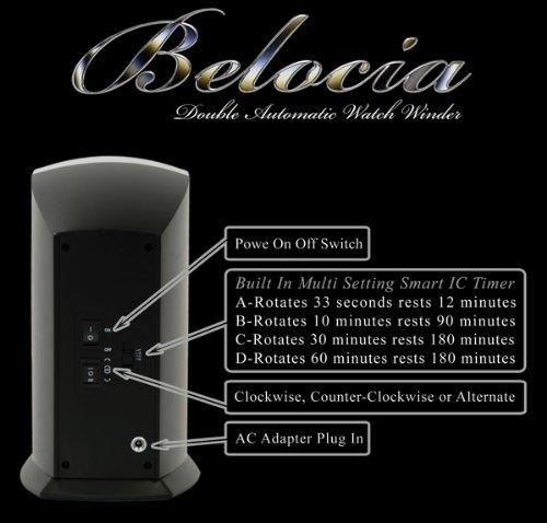 Amazon.com: Vertical, doble automático reloj con construido ...