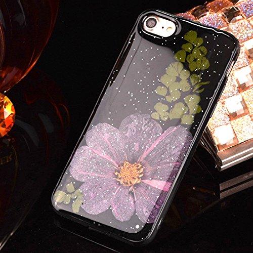 MXNET IPhone 7 Plus Fall, gepresste reale getrocknete Blume weiche TPU schützende Fall-rückseitige Abdeckung CASE FÜR IPHONE 7 PLUS ( SKU : Ip7p2295b )