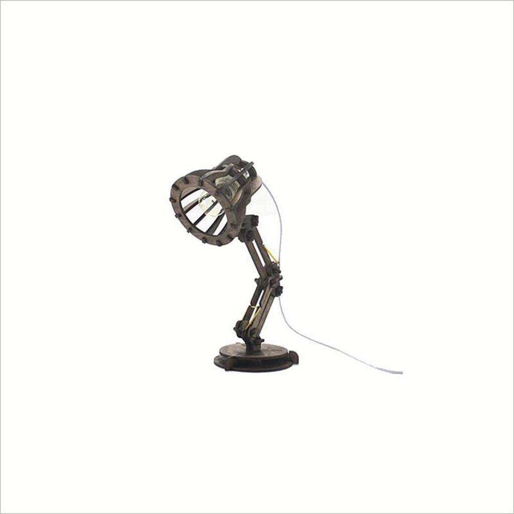 Uus Tischlampe Eiche Handmade DIY Braun Schlafzimmer Nachttischlampe E27 Glühbirne Basis 16  40 cm (energiesparende A +) (Farbe   Dunkelbraun, Größe   16  40cm)