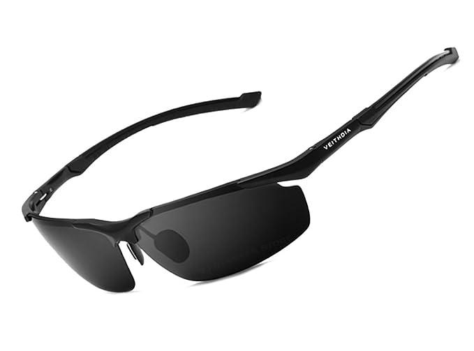 VEITHDIA - Lunettes de soleil - Homme Noir 6590-Black 1dC4Zu