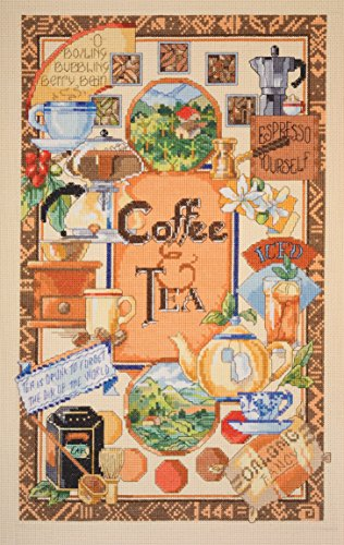- Janlynn Platinum Collection Coffee & Tea Sampler Counted Cross Stitc-10 X16 14 Count