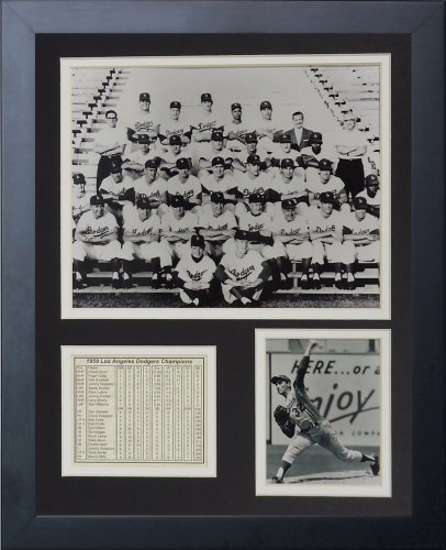 """Legends Never Die """"1959 Los Angeles Dodgers Framed Photo Collage, 11 x 14-Inch"""