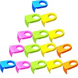 Ozzptuu 15pcs ABS Drink Clips Bottle Buckle Holders Beer Cocktail Snap for Schooner & Goblet Glasses (Random Color)