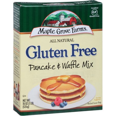 Maple Grove Farms of Vermont All Natural Gluten Free Pancake & Waffle Mix, 16 oz (Pack of 8) by Maple Grove Farms