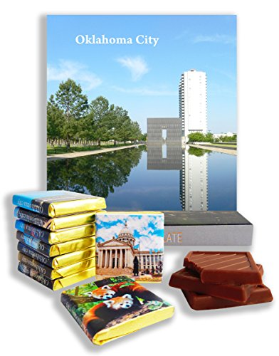 DA CHOCOLATE Candy Souvenir OKLAHOMA CITY Chocolate Gift Set 5x5in 1 box (White - Park State Garden Mall