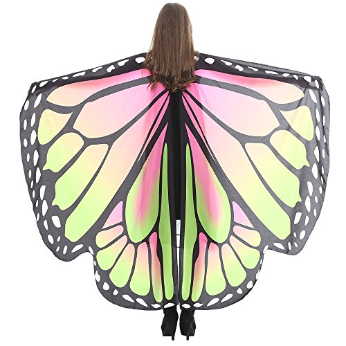 Wintialy Women Butterfly Wings Shawl, Wintialy Scarves Ladies Nymph Pixie Poncho Costume Sky Blue]()