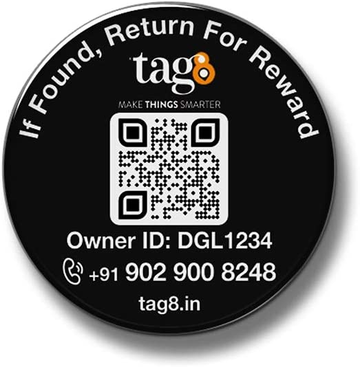 tag8 Mobile Recovery Tag for Android with App Based Tracking | Digital Tag : Find My Phone