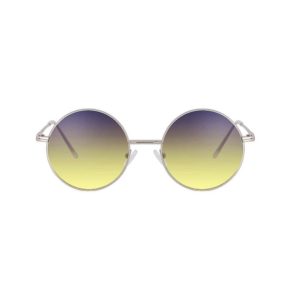 6d5c42a7de DT Gafas graduadas de los Hombres Gafas de Sol de protección UV Vintage  Harajuku Gafas graduadas Redondas: Amazon.es: Hogar
