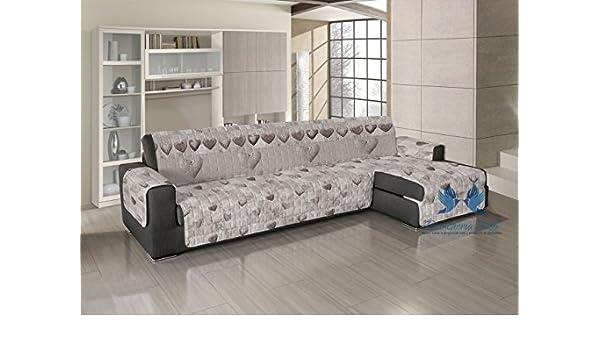Cubre sofá acolchado para sofás con chaise longue - Diseño ...