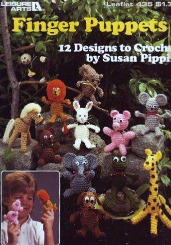 Finger Puppets - 12 Designs to Crochet (Leisure Arts, Leaflet 435) -
