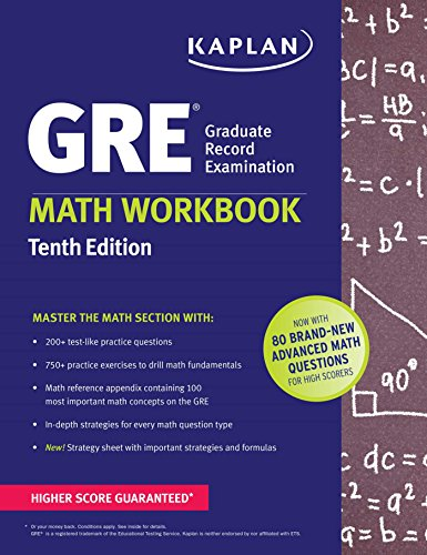 GRE Math Workbook (Kaplan Test Prep) cover