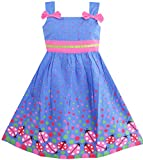 Sunny Fashion Girls Dress Blue Bug Pink Dot - Best Reviews Guide