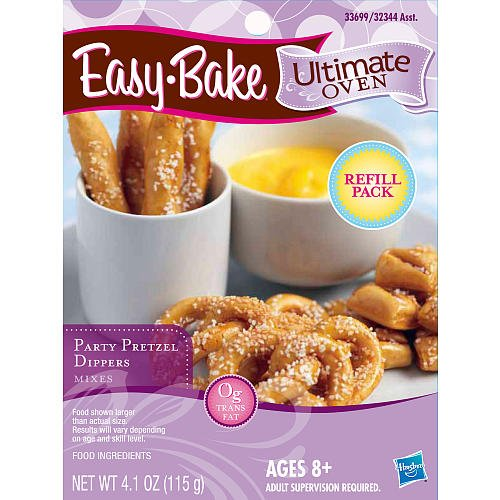 Easy-Bake Ultimate Oven Party Pretzels Refill Pack, 4.1 oz (Ez Bake Mixes)