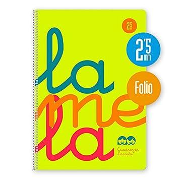 Bloc Lamela F/º fluor PP 80 hojas Cuadr/ícula 2,5 90g