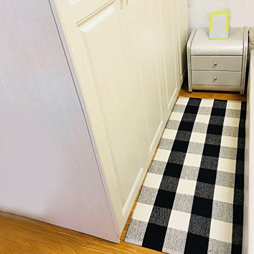 Checkered Bath Rug: Cotton Rug Area Rugs Buffalo Checkered Plaid Bath Runner