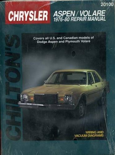 Dodge Aspen and Volare, 1976-80 (Chilton Total Car Care Series Manuals)