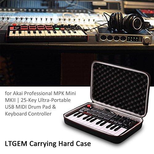 LTGEM Travel Hard Carrying Case for Akai Professional MPK Mini MKII | 25-Key Ultra-Portable USB MIDI Drum Pad & Keyboard Controller - Image 7