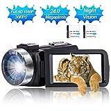 Camcorder Video Camera Full HD 1080P 30 FPS IR Night Vision Vlogging Camera