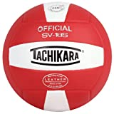 volleyball outdoor - Tachikara Institutional quality Composite VolleyBall, Scarlet-White