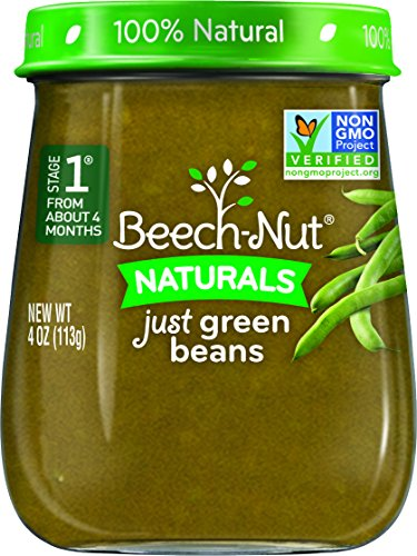 (Beech-Nut Stage 1 Baby Food, Green Beans, 4 Ounce (Pack of 10))