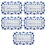 Brybelly Set of 5 Denominated 3' x 1.75' Poker Plaques (White $25000)