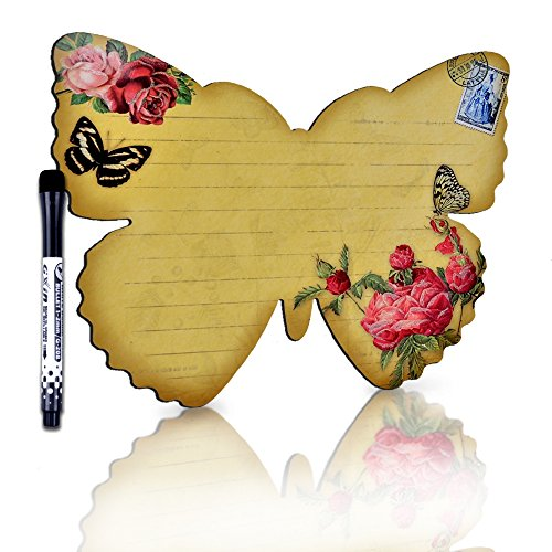 Refrigerator Magnetic Dry Erase Board Butterfly Reminders Sheet for Kitchen Fridge To Do List Home (6.69