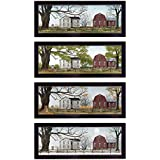 """""""Four Seasons Collection II"""" Collection By Billy Jacobs, Printed Wall Art, Ready To Hang Framed Poster, Black Frame"""
