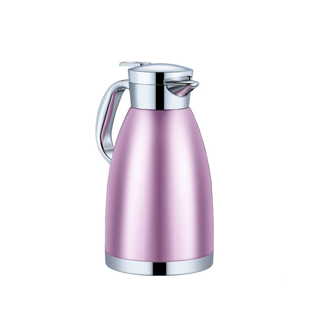 Jaxonn Home Stainless Steel Coffee Plunger Double Wall Vacuum Insulated Tea Pot Hot Water Bottle Thermo Jug for Coffee Juice Milk Beverages (Color : Purple, Size : 2300ML) by Jaxonn Home