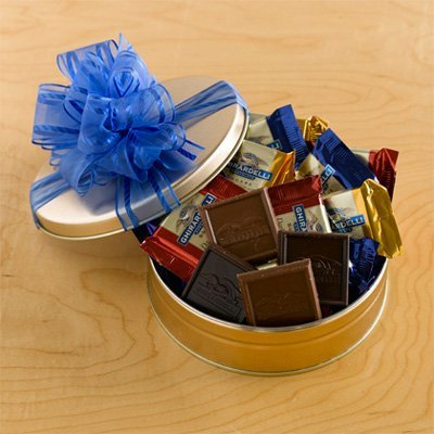 Ghirardelli Galore Gift Tin By Gift Basket Super Center by The Gift Basket Gallery