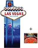 Vegas Sign - Poker Night Lifesize Cardboard Cutout / Standee / Standup - Includes 8x10 (20x25cm) Star Photo