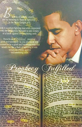 Prophecy Fulfilled ( Obama - Bible ) - 24x36 Unframed - African American Black Art Print Wall Decor Poster #