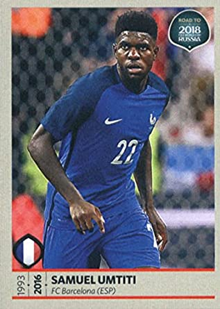 2017 Panini Road to 2018 FIFA World Cup Russia  84 Samuel Umtiti France  Soccer Sticker af7c02501