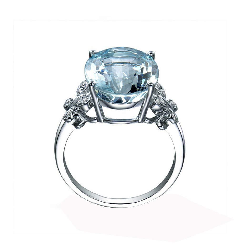 Pstars Blue Diamond Jewelry Wedding Band Engagement Rings