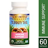 Host Defense - Turkey Tail Mushroom Capsules, Naturally Supports Immune Response, Healthy Digestion, and Hormone Balance, Non-GMO, Vegan, Organic, 60 Count