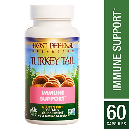 Host Defense – Turkey Tail Mushroom Capsules, Naturally Supports Immune Response, Healthy Digestion, and Hormone Balance, Non-GMO, Vegan, Organic, 60 Count For Sale
