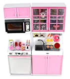 Modern Kitchen 16 Battery Operated Toy Kitchen Playset, Perfect for Use with 11-12 Tall Dolls