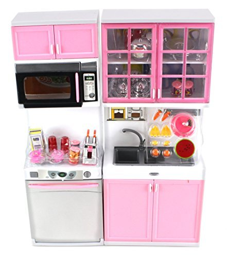 Modern kitchen 16 battery operated toy kitchen playset for My perfect kitchen products