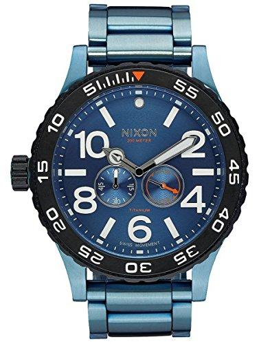 Blue Titanium The Moon Raider Watch by Nixon