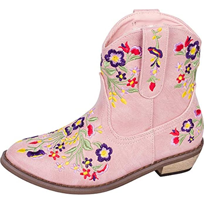 Girls' Betseyville Reece Floral Embroidered Cowboy Boots