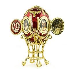 Caucasus Royal Russian Egg- Enameled Jewelry Trinket Box Figurine
