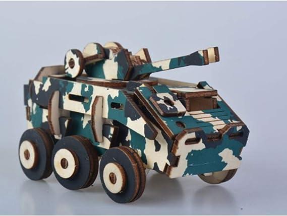 DierCosy Voiture Blindée 3D Puzzle en Bois Puzzle en Bois