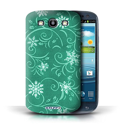 pour Samsung Galaxy S3/SIII / Turquoise conception / Collection de Motif flocon de neige