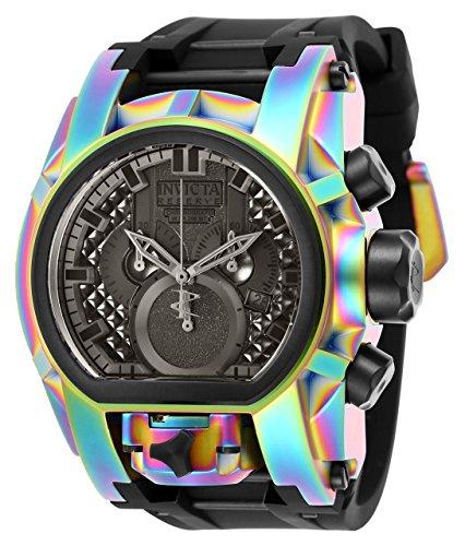 Invicta Reserve Men's 52mm Bolt Zeus Magnum Swiss Quartz Dual Movement Iridescent Silicone Strap Watch -  25609