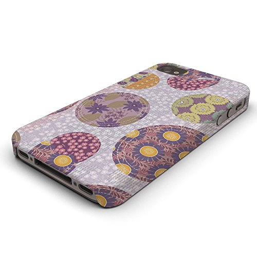 Koveru Back Cover Case for Apple iPhone 4/4S - Purple Fabric Pattern
